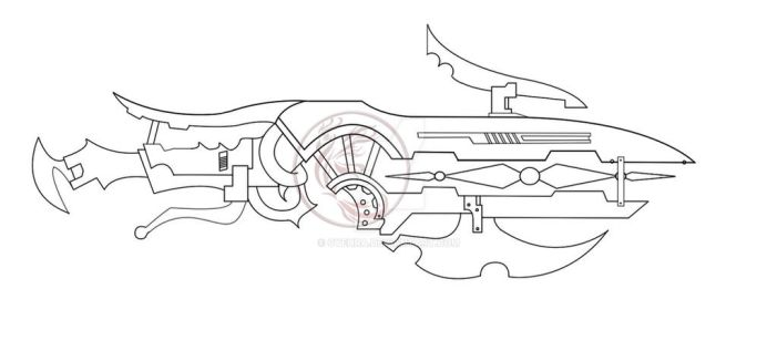 Progress of Weapon Design for OC Costume by cyehra