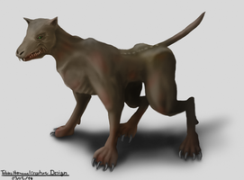 Creature Design - Mutated Dog by Yveo