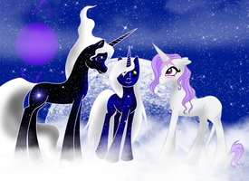 Visiting Celestials by WhiteWing1