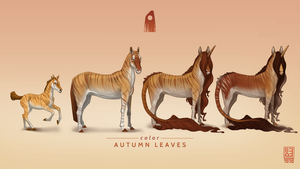 Autumn Leaves Exclusive Akhal Teke by Blackpassion777