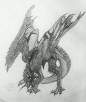 Rathalos Request by Sapphire-Essence