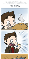 Supernatural -  Pie Time by caycowa