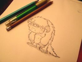 LUDO Pencil Sketch by buzhandmade