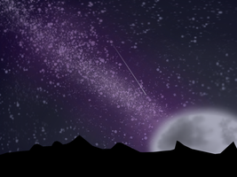 P2U: Night Sky Background by FabResources