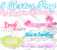 5 Textos PNG Sweet's. by RolandoEditions