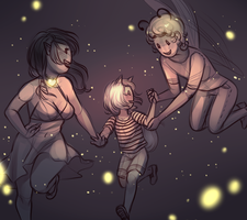 Fly between the stars by MaryLittleRose