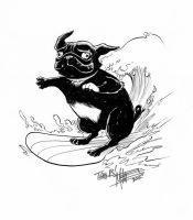 Roxy the Surfing Pug by Miketron2000