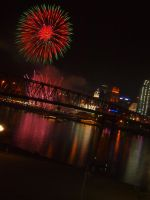 Fireworks After Reds Game by StPelagius