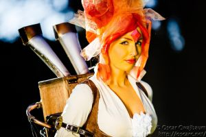 Steampunk Flame Princess by ocwajbaum