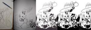 drawing process by macacaralho