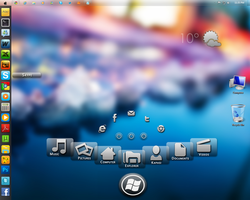 windows 7 with rainmeter skins by Kaps1991