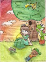 thinking of the good times.... by Peach-X-Yoshi