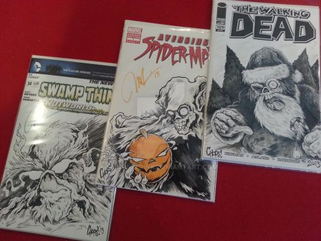 Three Little Sketch Covers by MonsterInk