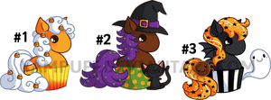 Halloween Cupcake Pony Adoptables ::CLOSED:: by YamPuff