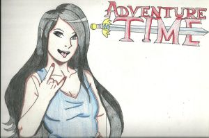 Adventure time marceline draw by blackshiki