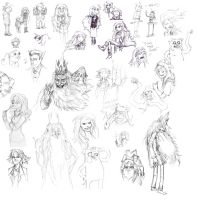 Adventure Time Sketchdump 1 by Ghashak