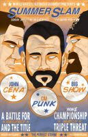 WWE Summerslam 2012 Vintage Poster by PaulGriffin
