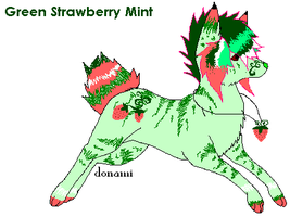 Green Strawberry Mint Adopt: Open by FuneralDyingheart