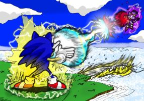 CLASH Sonic VS Blaze by theEyZmaster