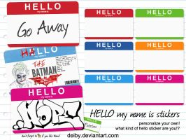 Hello my name is stickers by DesignFathoms