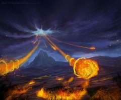 God's fire in the plain by MatteoAscente