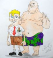 realistic Bob square pants and Patrick star by aztcampos