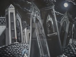 6 Ghosts - painting by erondagirl