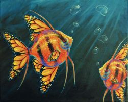 Angelfishes by BenjiiBen