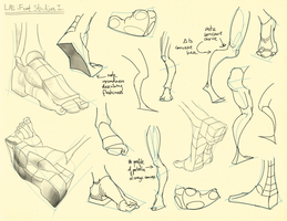 Hampton p.209, 211: L/E - Foot Studies I by theThirdCartel