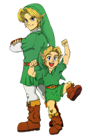 The Personality of Link: Oot/MM Link by SiscoCentral1915