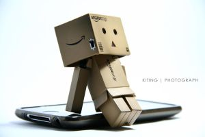 Danbo with Itouch by kitinggiling