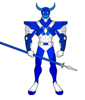 Hypothetical MMPR Remake-Blue Ranger by TeiOuja