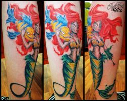 Ariell and fabius by CAMOSartTATTOO