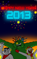 Happy New Year 2013 by BluebottleFlyer