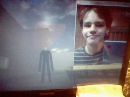 Me Vs Slender Man by DragonTruLoverManiak