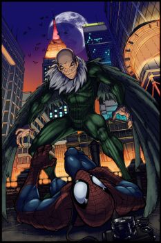 Spiderman versus the Vulture by EComrad