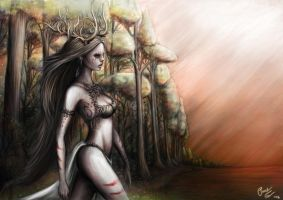 Dryad of the woods by Patrike
