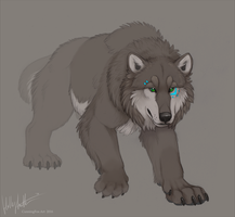 Wolfbear in the mists by CunningFox