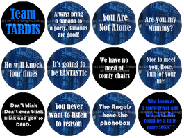 Doctor Who Buttons by Fangirls-Trilogy