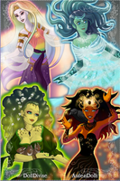 Earth Water Fire and Air by cartoon-girl-2010