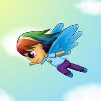 MLP: Rainbow Dash Chibi by KittyBelle01