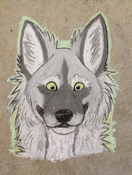 Yossarian (Chalk Headshot) by Evelyn-Cross