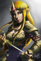 Princess Zelda by BurntGreenTea