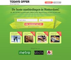 Todaysoffer.nl landing page by fuxxo