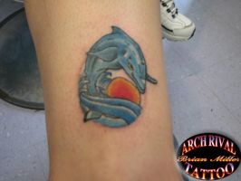 dolphin tattoo by theothertattooguy