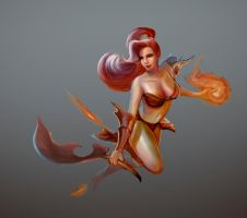 Fire girl by DavidAdhinaryaLojaya