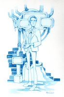 Doctor Who Watercolor Sketch by CasCanete