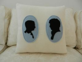 johnlock cameo 14x14 pillow by celina-tamwood