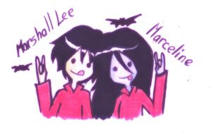 MARSHALL LEE AND MARCELINE by F10R3LL4