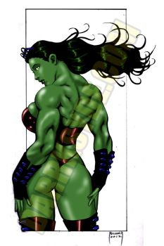 SHE-HULK LOOKS BACK by Dwid